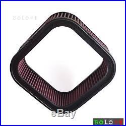 Motorcycle Cotton Gauze Rectangular Air Filter Cleaner For Harley Davidson VRSCA