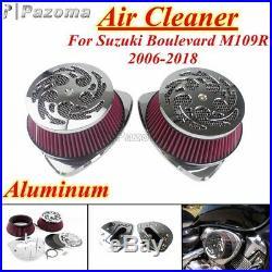 Motorcycle Dual Intake Air Cleaner Filter Kit For Suzuki Boulevard M109R 2006-19
