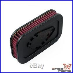 Motorcycle Red Air Cleaner Filter Custom For Harley Sportster 883 1200 2004-2013
