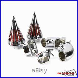 Motorcycle Spike Air Cleaner Intake Filter Kits For Suzuki Boulevard M109 Chrome