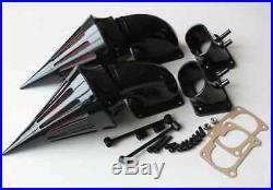 Motorcycle Spike Air Cleaner Kit Intake for Suzuki All Year Boulevard M109 BLACK