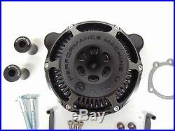 Performance Machine Harley Davidson Max HP Air Cleaner Black Ops 0206-2078-SMB