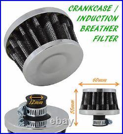 Peugeot Oil Mini Breather Air Filter Fuel Crankcase Engine Car Bike Carbon