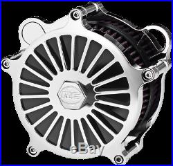 RC Components Chrome Illusion Motorcycle Air Filter Cleaner 08-17 Harley Touring