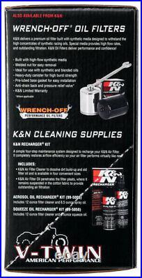 RK-3932 K&N Harley Davidson Intake Kit STREET METAL INTAKE SYSTEM FLARE KN Po