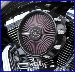 Rc Truflow Black Gatlin Motorcycle Air Cleaner Kit 91-16 Harley Sportster XL XLH