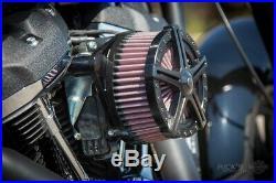 Rick`s H-D Softail 1993-2015 Apollo 5 Luftfilter Billet-Alu schwarz