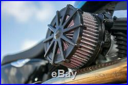 Rick`s H-D Sportster EFI ab 2007 Spoke Black Luftfilter Billet-Alu schwarz