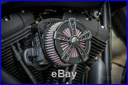 Ricks Harley Softail (103Cui) ab 2016 Rodder Luftfilter Billet-Alu schwarz