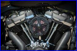 Ricks Harley Softail (110Cui) ab 2016 Apollo 5 Luftfilter Billet-Alu schwarz