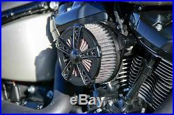 Ricks Harley Softail (110Cui) ab 2016 Rodder Luftfilter Billet-Alu schwarz