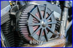 Ricks Harley Sportster EFI ab 2007 Spoke Black Luftfilter Billet-Alu schwarz