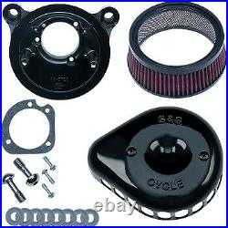 S&S Cycle Air Cleaner Black Mounted for 01-17 Twin Cam 170-0442