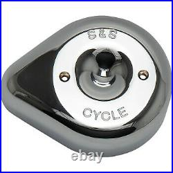 S&S Cycle Air Cleaner Cover Stealth Chrome 170-0530