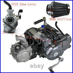 SEMI AUTO LIFAN 125CC Motor Engine Carby Air Filter TaoTao Coolster Dirt Bike