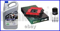 Service Filters Iridium Plugs & Rock Oil Motorcycle for Honda NTV650 1988-1997