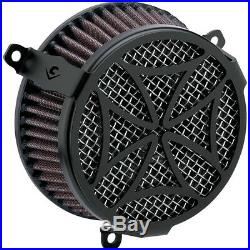 Set Air Filter Cobra Cross Black X Motorcycle Harley Davidson Sportster XL 04-15