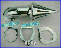 Spike Air Cleaner Intake Filter Kit Chrome Fit Honda Shadow ACE VT750 Motorcycle