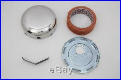 Stainless Steel Smooth J-Slot Air Cleaner, for Harley Davidson motorcycles, by