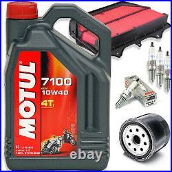 Suzuki GSXR 750 L2 2012 Motul 7100 Service Kit, Oil, Air, Filter, 4 Spark Plugs