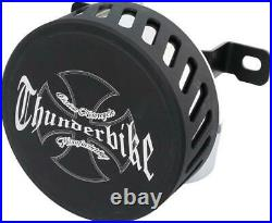 THUNDERBIKE Powerfilter Logo Air Cleaner, Bi-Color Harley Sportster