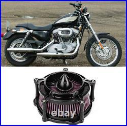 Terisass Air Filter Aluminium Motorcycle Air Filter Cleaner Motorbike Modified