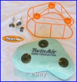Twin Air 153909C Air Filter Motorcycle ATV Dual-Stage Foam Orange White Each