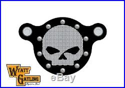 Wyatt Gatling Air Cleaner Kit Black, for Harley Davidson motorcycles, by V-Twin