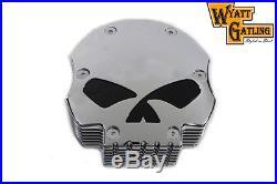 Wyatt Gatling Chrome Skull Air Cleaner, for Harley Davidson motorcycles, by V-Twin